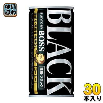 Suntory BOSS boss unsweetened black 185 g cans 30 pieces [BLACK sugar-free, black coffee coffee coffee]