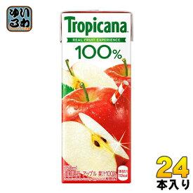 キリン トロピカーナ100% アップル 250ml 紙パック 24本入〔キリン KIRIN Tropicana あっぷる リンゴ りんごジュース 林檎 果汁飲料〕