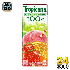 キリン トロピカーナ100% フルーツブレンド 250ml 紙パック 24本入〔果汁飲料〕