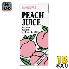 カゴメ ピーチジュース (ホテルレストラン用) 1L 紙パック 18本 (6本入×3 まとめ買い) 〔果汁飲料〕