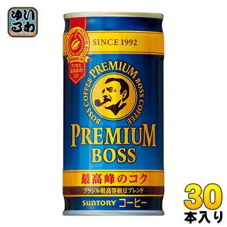 30 canned 185 g of Suntory BOSS boss premium bosses Motoiri [canned coffee]