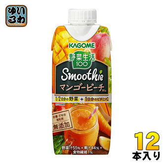Kagome vegetable life 100 Smoothie smooth mango Mix 330ml paper pack 12 pieces (vegetable juice)