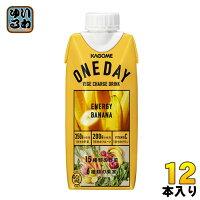 カゴメONEDAYENERGYBANANA330ml紙パック12本入(野菜ジュース)