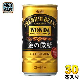 Canned 185 g of slight sugar 30 Motoiri [coffee] of the money of Asahi Wanda WONDA