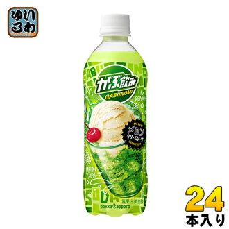 Pokka Sapporo swill melon cream soda 500 ml plastic bottle 24 Motoiri [milk-related drink]