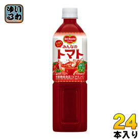 〔クーポン配布中〕デルモンテ みんなのトマト 900gペットボトル 24本 (12本入×2 まとめ買い) 野菜ジュース〔デルモンテ トマトジュース 栄養機能食品〕