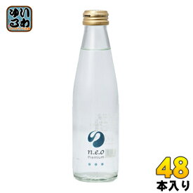 友桝飲料 n.e.o(ネオ)プレミアムソーダ 200ml 瓶 48本 (24本入×2 まとめ買い)〔炭酸飲料〕