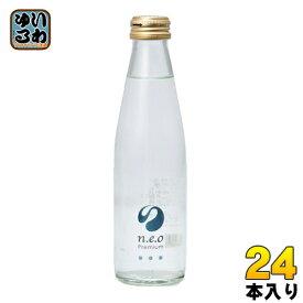 友桝飲料 n.e.o(ネオ)プレミアムソーダ 200ml 瓶 24本入〔炭酸飲料〕