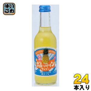 友桝飲料 塩&パインサイダー 245ml 瓶 24本入〔炭酸飲料〕