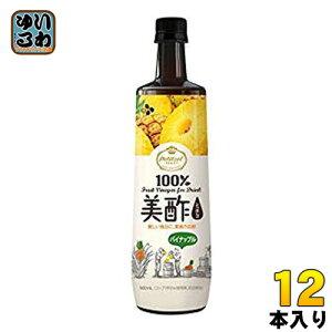 CJジャパン プティチェル美酢(ミチョ) パイナップル 900ml ボトル 12本入 〔酢飲料〕