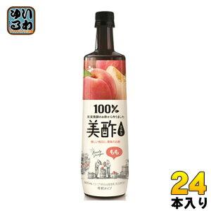 CJジャパン プティチェル美酢(ミチョ) もも 900ml ボトル 24本 (12本入×2 まとめ買い)〔酢飲料〕