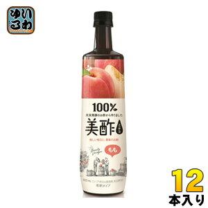 CJジャパン プティチェル美酢(ミチョ) もも 900ml ボトル 12本入 〔酢飲料〕
