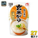 味の素KK おかゆ 玄米がゆ 250g 27個入〔粥 レトルト インスタント 離乳食 非常食 買い置き ストック〕