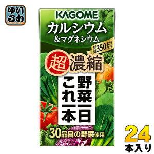 カゴメ 野菜一日これ一本 超濃縮 カルシウム&マグネシウム 125ml 紙パック 24本入 (野菜ジュース) 〔野菜1日これ1本 KAGOME 野菜ミックス濃縮ジュース やさいいちにちこれいっぽん〕