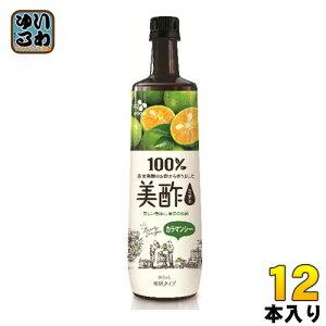 CJジャパン 美酢(ミチョ) カラマンシー 900ml ボトル 12本入 〔酢飲料〕