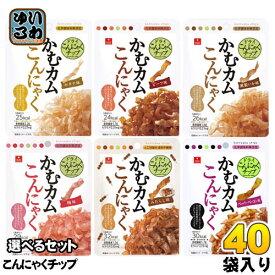 かむカムこんにゃく ドライこんにゃくチップ 選べる 40袋 (10袋×4) アスザックフーズ