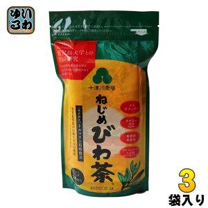 十津川農場 ねじめびわ茶 ティーバッグ 2g×24バック 3袋 (1袋入×3 まとめ買い)