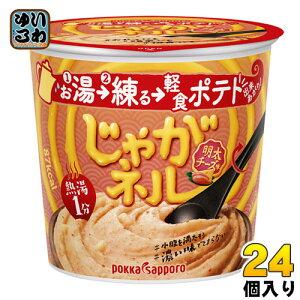 ポッカサッポロ じゃがネル 明太チーズ味 24個 (6個入×4 まとめ買い)