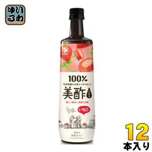CJジャパン 美酢(ミチョ) いちご 900ml ボトル 12本入
