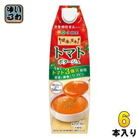 伊藤園 健康な食卓 トマトポタージュ 屋根型キャップ 1L 紙パック 6本入