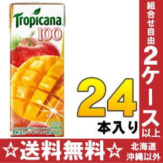 24 100 250 ml of 100% of キリントロピカーナ fruit X fruit mango blends pack Motoiri [mango juice fruit juice %]
