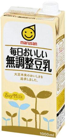 マルサン毎日おいしい無調整豆乳1000ml紙パック