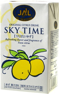 JAL sky yuzu 1000 ml paper Pack 6 pieces [SKYTIME yuzu citrus fruit.