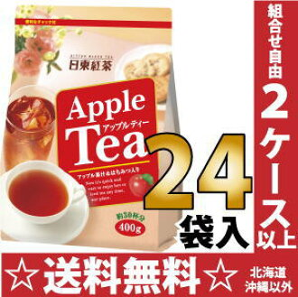 Nitto tea Apple tea 400 g 24 bag [powder type tea AppleTea instant with Chuck.