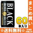 サントリー BOSS ボス 無糖ブラック 185g缶 30本入×2 まとめ買い〔BLACK 無糖・ブラック コーヒー 珈琲 こーひー〕