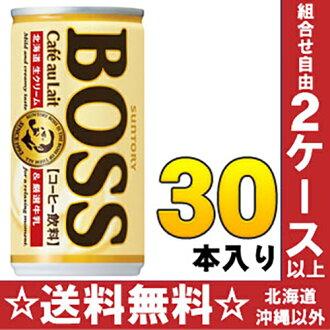 三得利老闆 Café au lait 185 g 罐 30 件 [老闆]