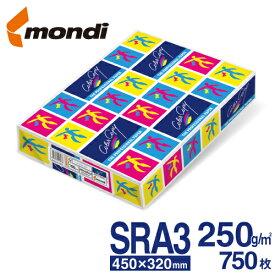 【送料無料】 mondi Color Copy (モンディ カラーコピー) SRA3(450×320mm) 250g/m2 750枚/箱(125枚×6冊) FSC認証 高白色・高品質のレーザープリンター用紙 ColorCopy SRA3 250gsm 両面印刷対応 ハイパーレーザーコピー