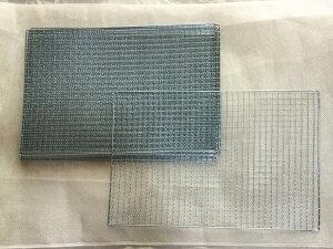 10枚セット 使い捨て焼き網 長方形 約40cm×60cm 鉄・亜鉛メッキ スポット仕上げバーベキュー網 まとめ買い