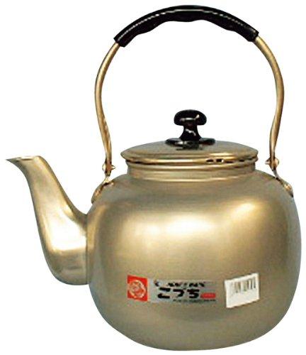 昔なつかし 福徳瓶 アルマイト やかん 8L 前川金属大型 湯沸し アルミ 蓚酸アルマイト レトロ 昔ながら 金色 ゴールド ケトル ケットル 8.0リットル 業務用 家庭用