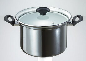 オニキスシリーズ ホーロー 深型鍋 22cm ON-22F 高木金属 IH対応ガラス蓋 深型 深い 鍋 両手 光沢 綺麗 きれい ブラック オニキス カラー