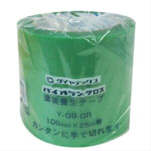【個包装】ダイヤテックス パイオランクロス 100mm×25m巻塗装養生テープ Y-09-GR