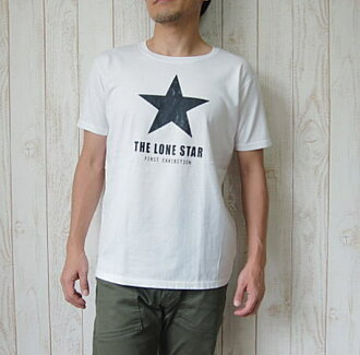 BARNS OUTFITTERS (バーンズアウトフィッターズ) THE LONE STAR TEE 론스타 로고 T-셔츠