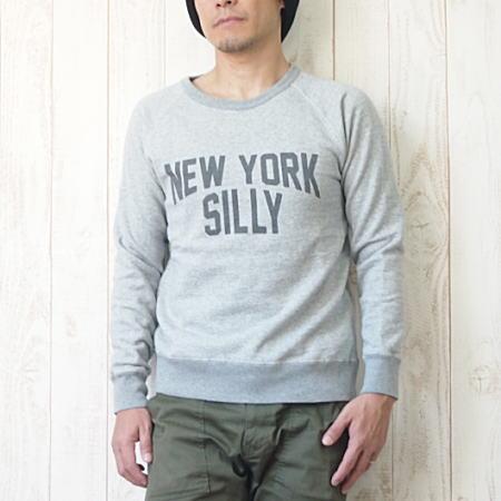 BARNS(バーンズ)ラグラン クルーネック スウェット 『NEW YORK SILLY SWEAT』