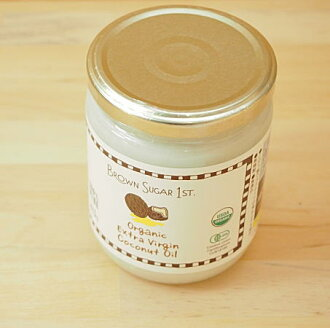 BROWN SUGAR 1ST organic extra virgin coconut oil) 100% PURE organic coconut oil 425 g