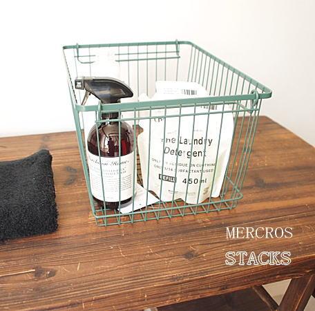 BRID MERCROS(メルクロス)STACKS ワイヤーバスケット Lサイズ WIDE STRAGE BASKET