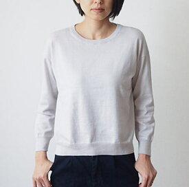 mao made(マオメイド)ピマコットンクルーネックプルオーバー UVカット