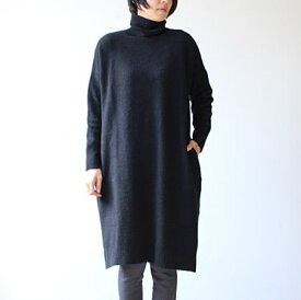 mao made(マオメイド)1/13YAK FEEL タートルニットワンピース