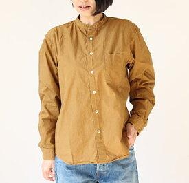 MANUAL ALPHABET(マニュアルアルファベット)ルーズフィット バンドカラーシャツ スタンドカラーシャツ