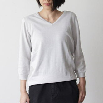 mao made (ramie maid) 2/30 Pima cotton series UV knit V neck pullover