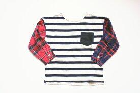 セール【メール便可】BLUEU AZUR(ブルーアズール)ボーダーTシャツ