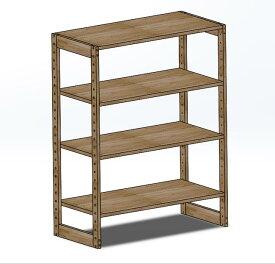 木製ラック 90x45x152