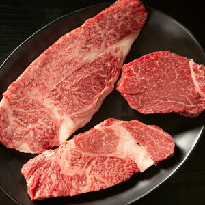 ステーキ ホワイトデー ギフト 入学祝い 卒業祝い 就職祝い お祝い 送料無料 山形牛 山形牛ステーキ三種食べ比べセット ヒレ サーロイン リブロース