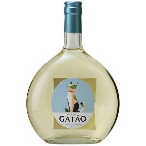 ボルゲス ガタオ ヴィーニョ ヴェルデ フラゴンボトル 750ml 猫ラベル ポルトガル 微発泡 白ワイン 可愛い ボトル フラゴン 緑のワイン