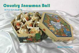 カントリースノーマンボール クリスマス クリスマスツリー オーナメント クリスマス雑貨
