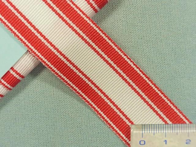 在庫処分・大幅値下げグログランリボン赤×白