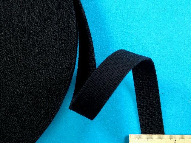 アクリルバンド大巻き(2.5cm幅x50m巻)黒
